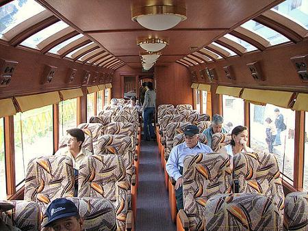asientos del tren de huancayo